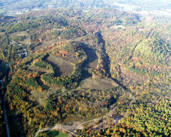 Aerial image of east side of Pleasant Valley Park